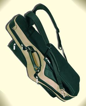 Saxophonkoffer-Überzug,  Gurte und Notentasche gepolstert