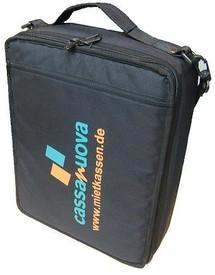 Geschlossene Kassen-Tasche von außen